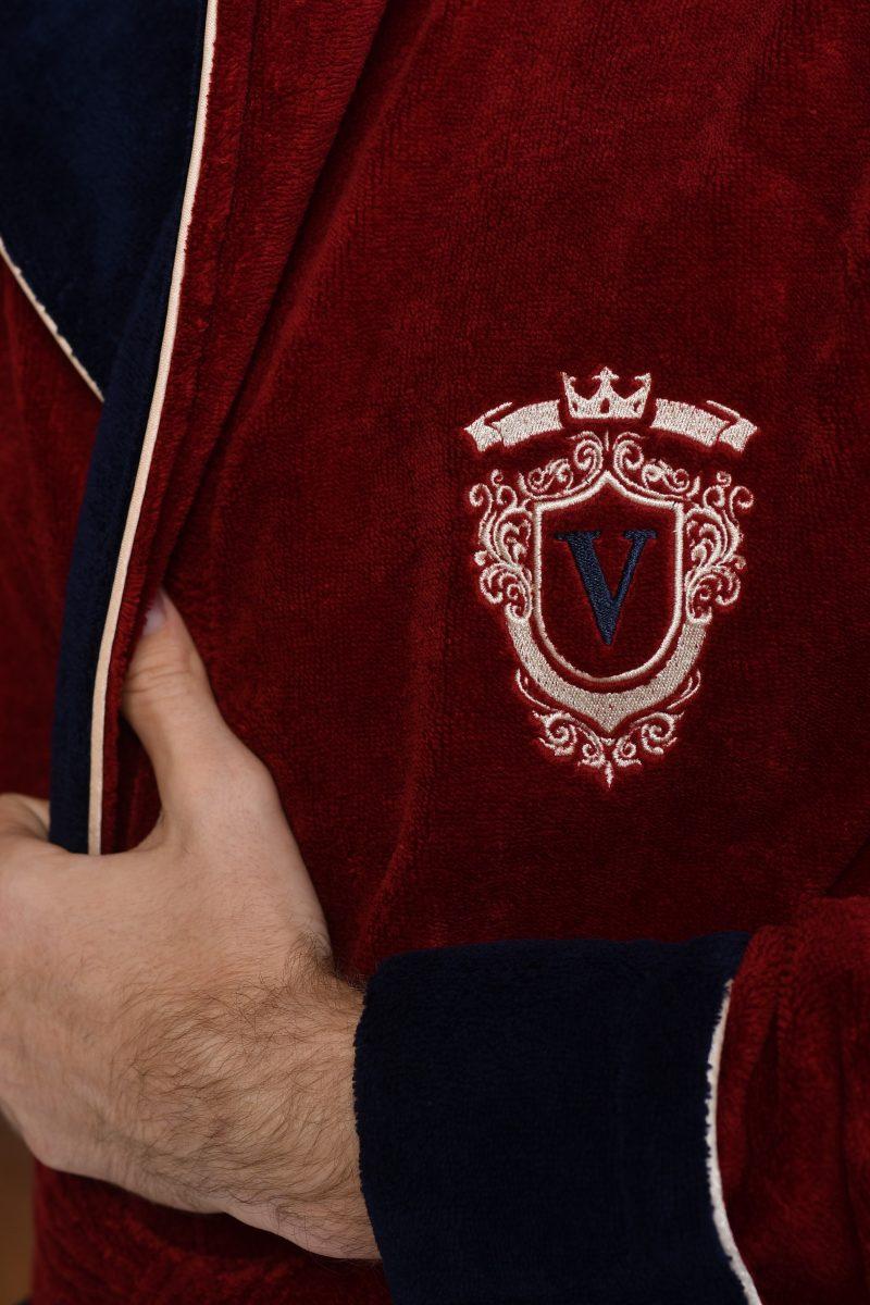 NEVADA (bordo) Мужской махровый халат