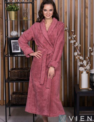 SWEET (Old rose) женский махровый халат