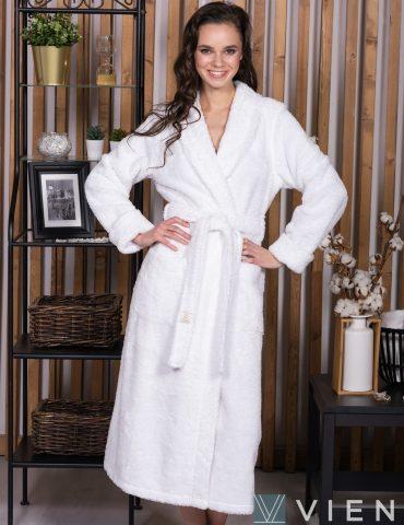 SWEET (White) женский махровый халат