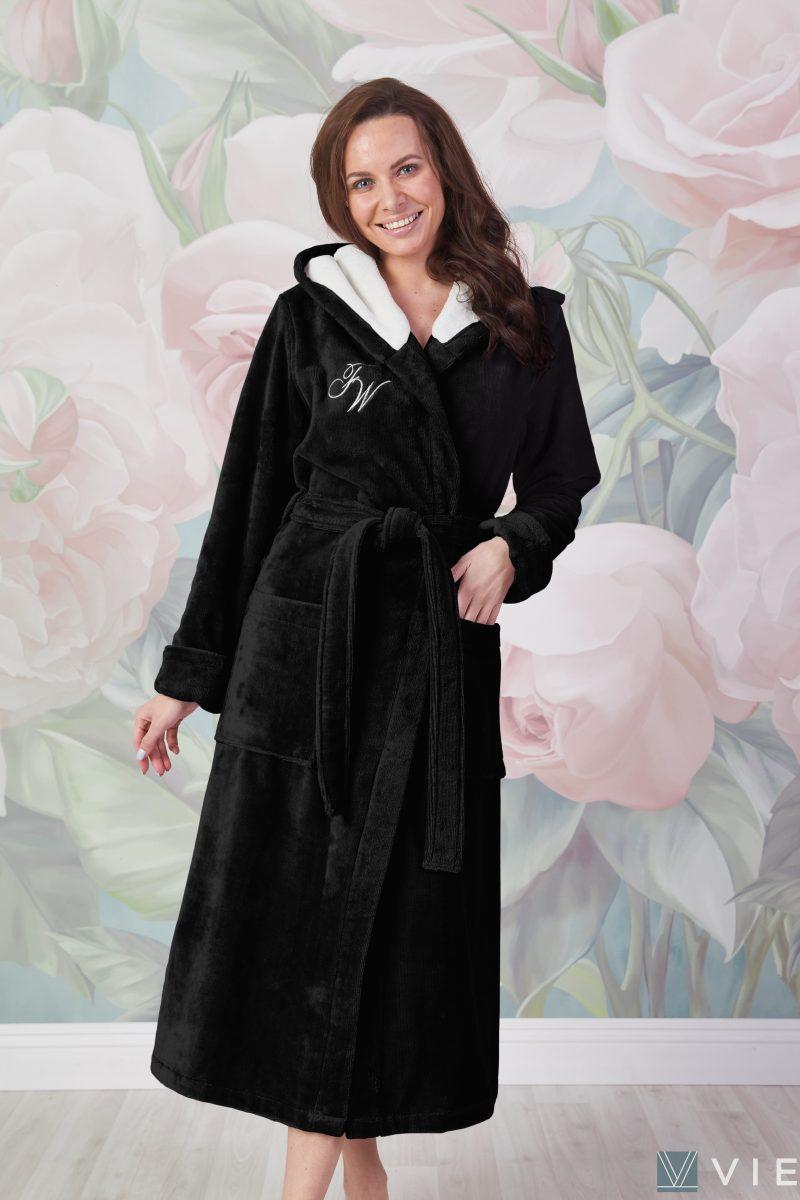 Violetta (черный) женский мягкий халат