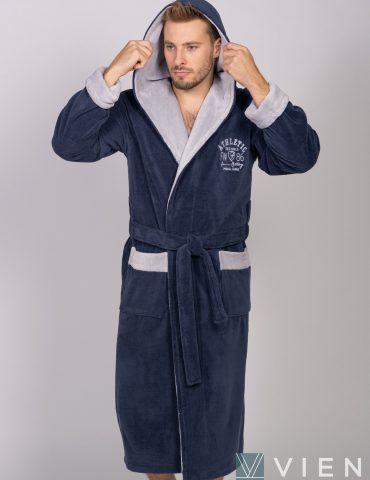 ATHLETIC (Джинс) спортивный мужской халат из бамбука