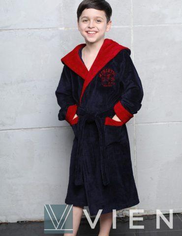 Athletic Junior (Navy/Red) подростковый бамбуковый халат