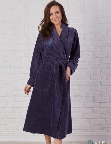 FELICHE (слива) махровый женский халат