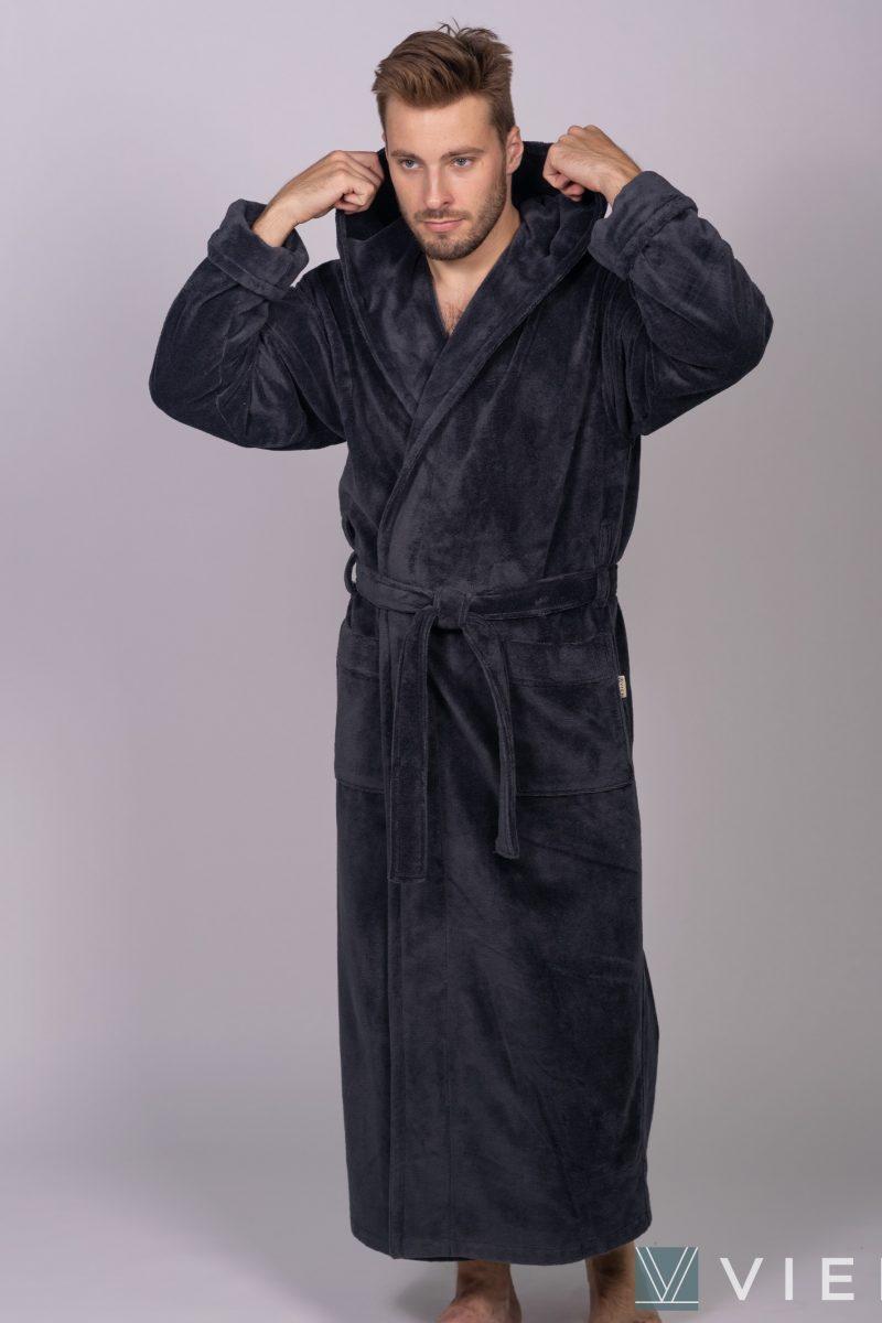 Длинный мужской халат MAGISTR (Antracit)