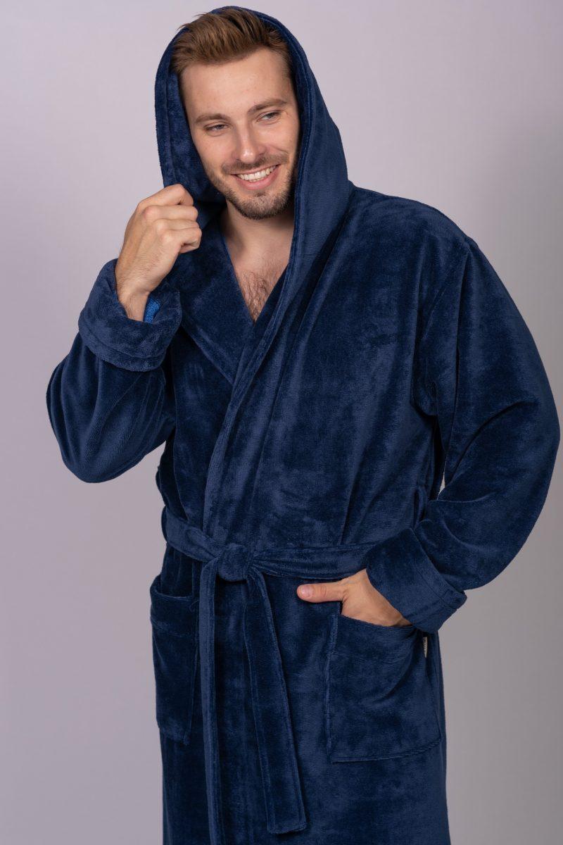Длинный мужской халат MAGISTR (Denim)