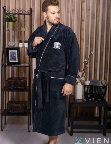 MARSHAL (Antracit) мужской велюровый халат