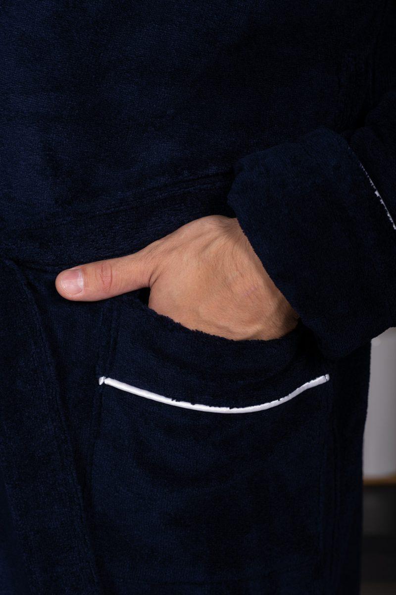 MARSHAL (Navy) мужской велюровый халат