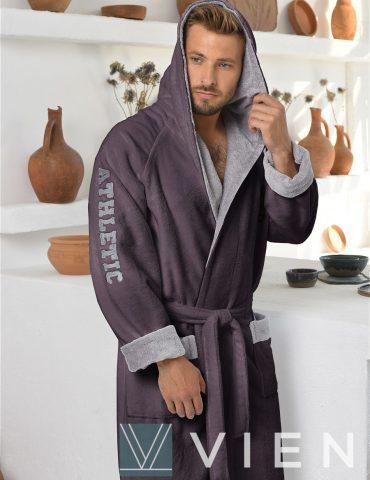 ATHLETIC (Мокко) спортивный мужской халат из бамбука