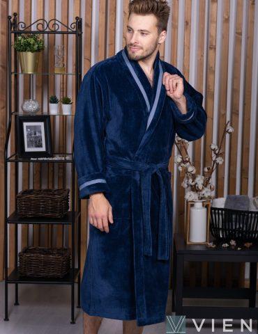 BARON (джинс) мужской велюровый халат