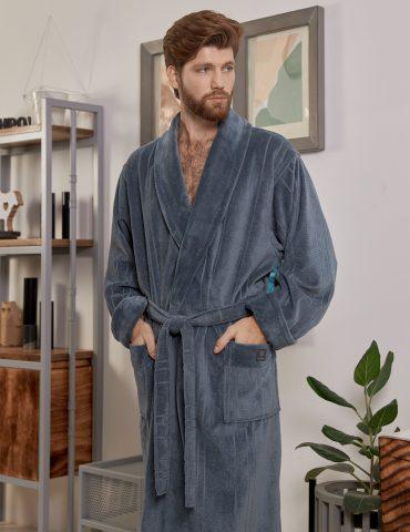 CRISTOPHER (Grey) мужской махровый халат