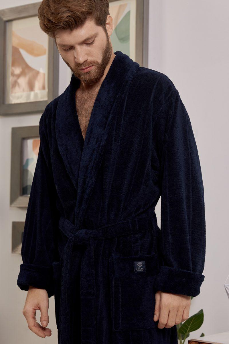 CRISTOPHER (Navy) мужской махровый халат