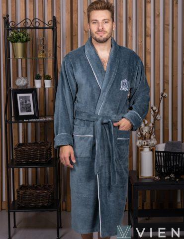 MARSHAL (Petrol) мужской велюровый халат