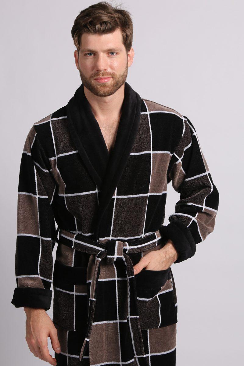 LUX COTTON (2104) Мужской махровый халат