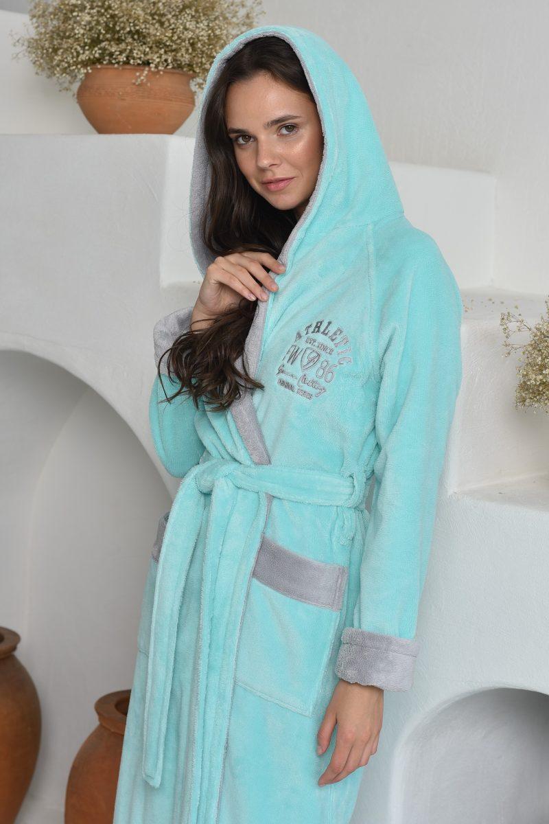 ATHLETIC LADY (Mint) женский халат