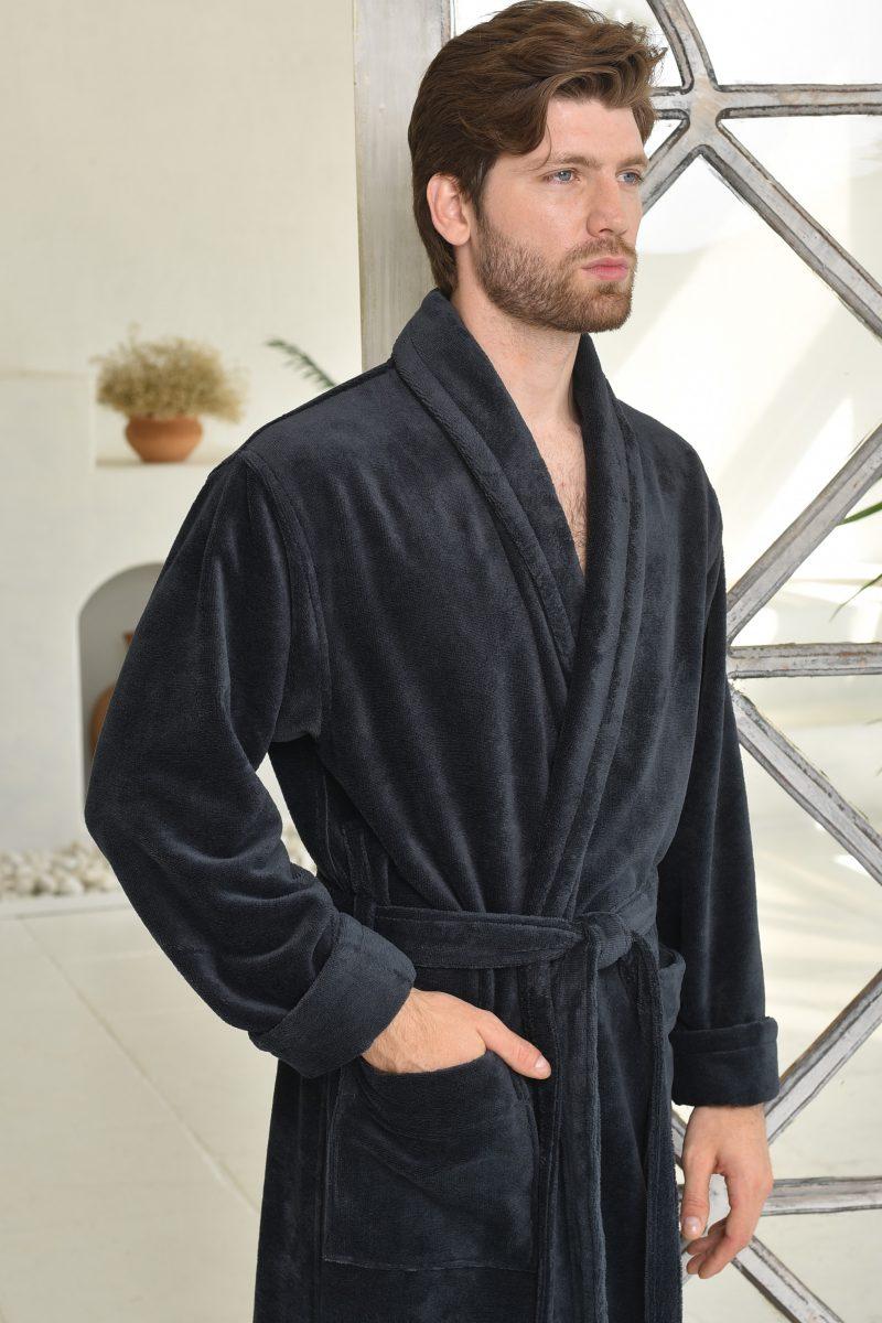 LORD (Antracit) мужской махровый халат