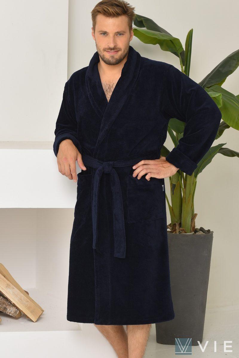 LORD (Navy) мужской махровый халат